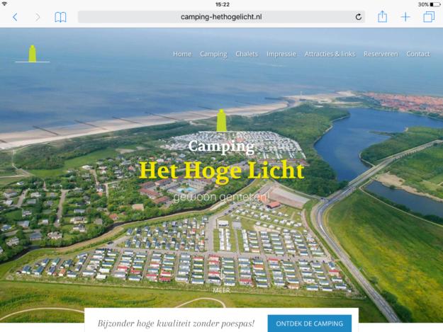 Hogelicht Ipad Webdesign Zeeland