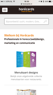Internetbureau Zeeland Horecards Mobile