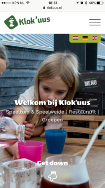 Responsive Webdesign Klokuus Iphone