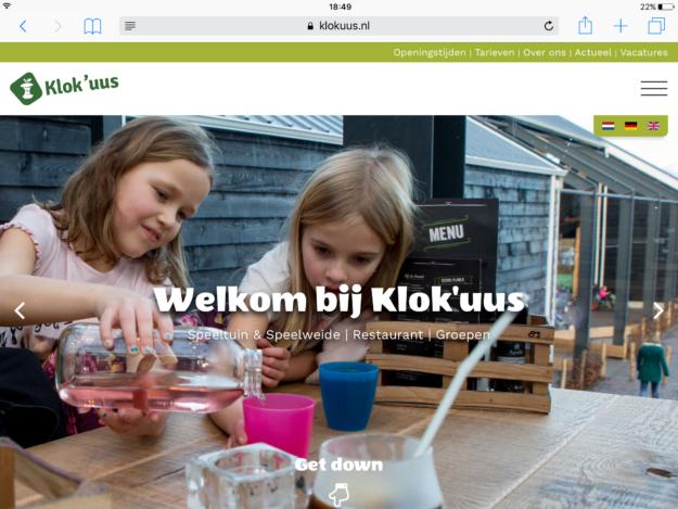 Wedesign Internetbureau Zeeland Klokuus Ipad