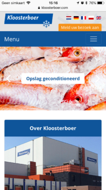 Kloosterboer Website Ontwikkeling Zeeland Iphone
