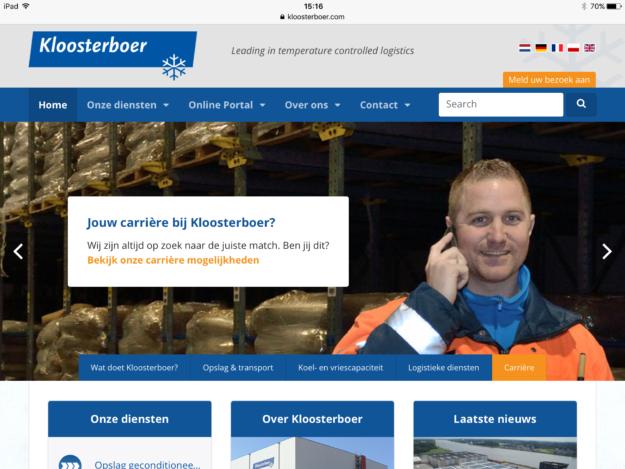 Kloosterboer Website Ontwikkeling Zeeland Ipad