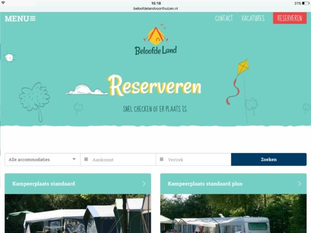 Beloofdeland Ipad Webdesign Zeeland